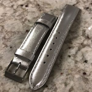 Leather 18mm watch band, fits Fossil & Michele